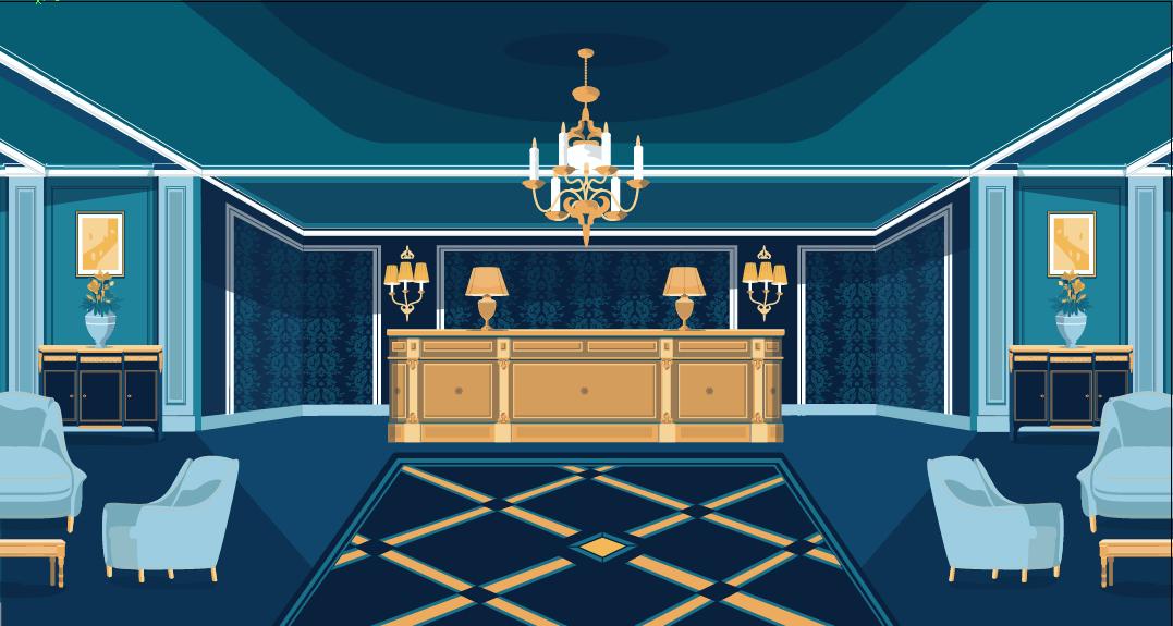 Hotel Lobby Gizmo Animation Studio