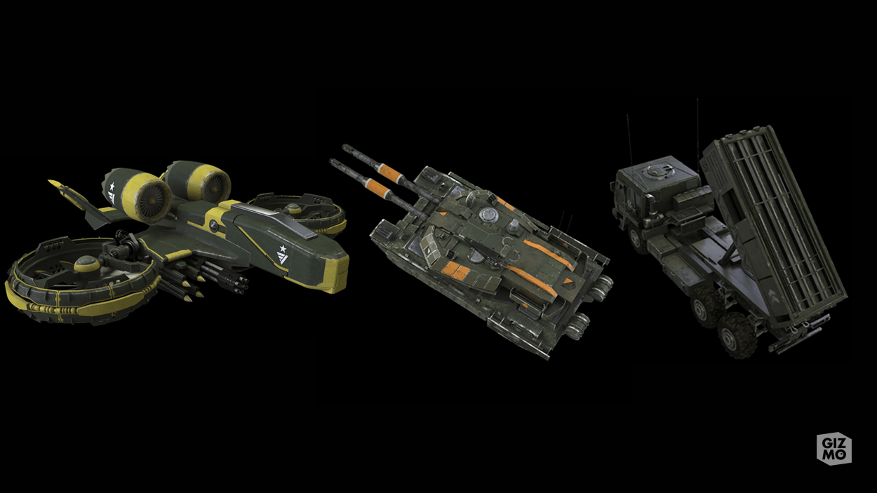 Vehicles from War Planet
