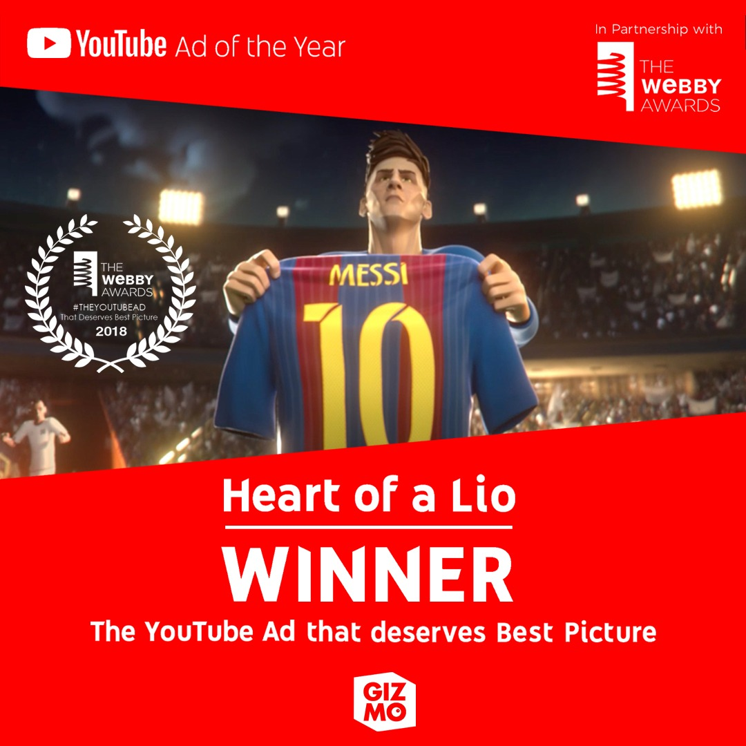 HEART OF A LIO WINNER OF #TheYouTubeAd #WebbyAwards!!!
